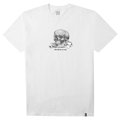 HUF Partys Over T Shirt Mens Printed Tee White