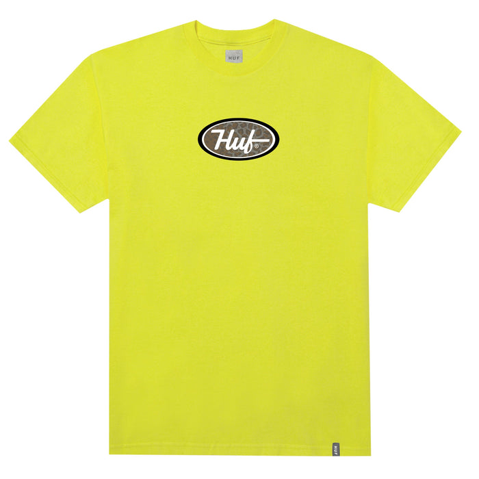 HUF Pch Logo T Shirt Mens Tee Blazing Yellow