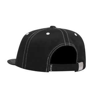 HUF Peak Contrast 6 Panel Mens Cap Black