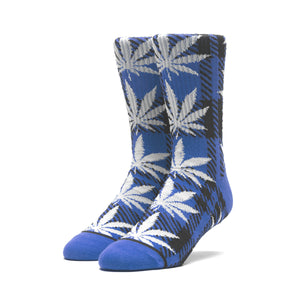 HUF Plaid Plantlife Sock Mens Sock Nebulas Blue