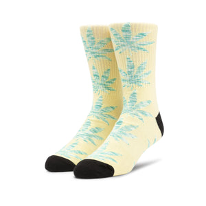 HUF Plantlife Melange Leaves Sock Banana