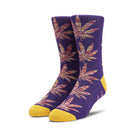 Load image into Gallery viewer, HUF Plantlife Melange Leaves Sock Grape
