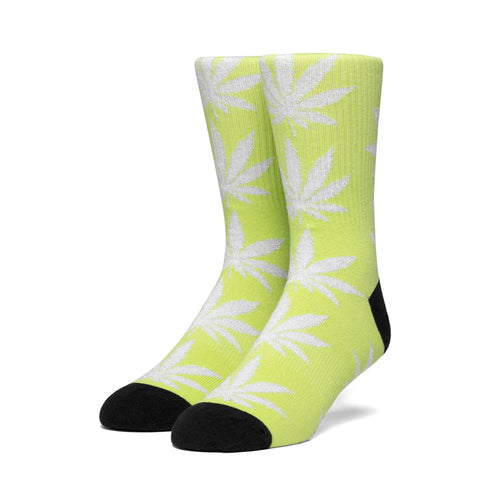 HUF Plantlife Metallic Leaves Sock Mens Sock Hot Lime