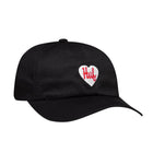 Load image into Gallery viewer, Huf Plastic Heart Curved Visor 6 Panel Hat Black