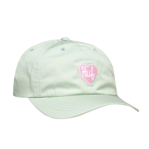 Huf Plastic Heart Curved Visor 6 Panel Hat Pale Aqua