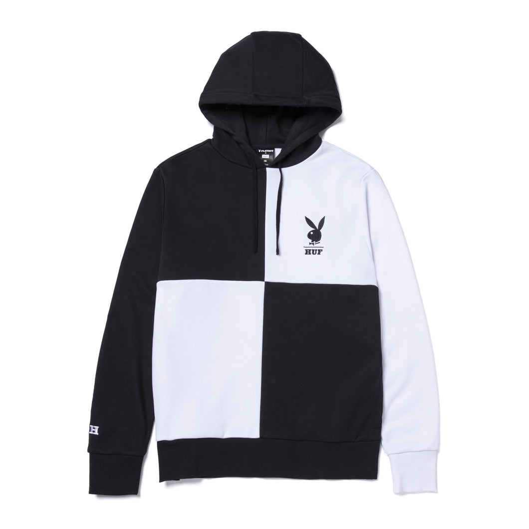 Playboy Color Block Pullover Hoodie Black