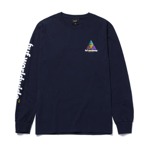 HUF Prism Logo Sportif Long Sleeve T-Shirt French Navy