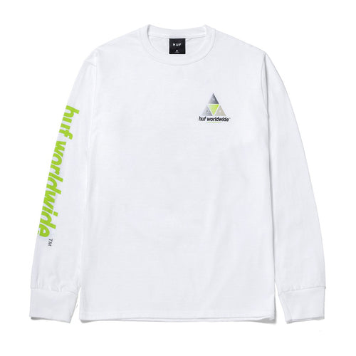 HUF Prism Logo Sportif Long Sleeve T-Shirt White