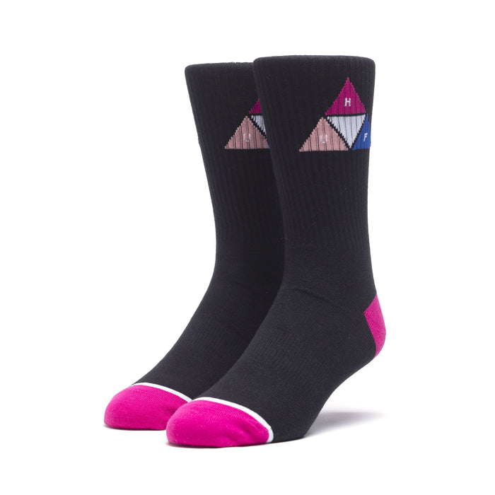 HUF Prism Triangle Sock Mens Sock Black