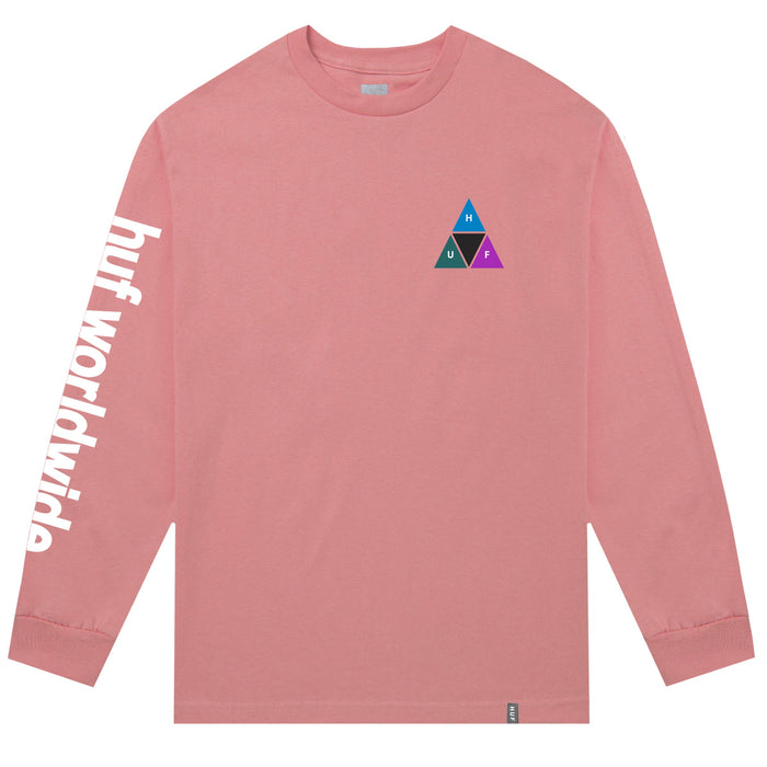 HUF Prism Triple Triangle Long Sleeve T Shirt Mens Ls Tee Desert Flower