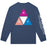 HUF Prism Triple Triangle Long Sleeve T Shirt Mens Ls Tee Insignia Blue