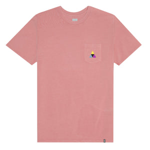 HUF Prism Triple Triangle Pocket T Shirt Mens Tee Desert Flower