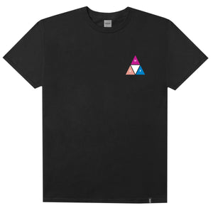 HUF Prism Triple Triangle T Shirt Mens Tee Black