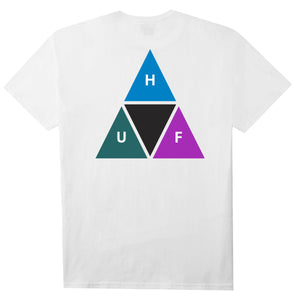 HUF Prism Triple Triangle T Shirt Mens Tee White