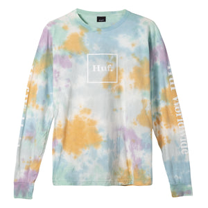 Huf Prism Wash Domestic Long Sleeve T-shirt White