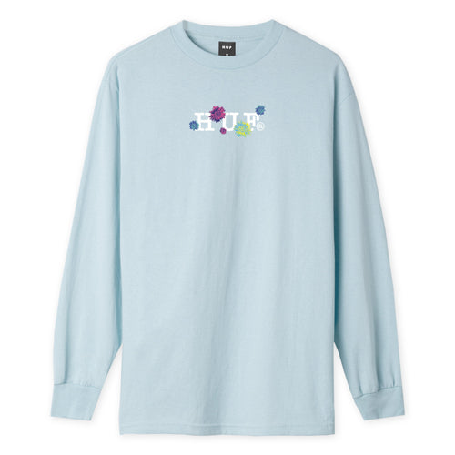 Huf Psycho Daisies Long Sleeve T-shirt Light Blue