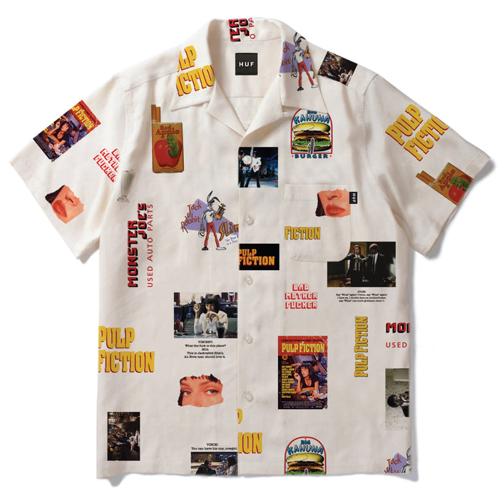 HUF Pulp Fiction Photo Woven Shirt Mens White