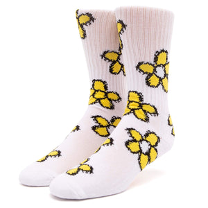 Huf Pushing Daisies Tt Sock White