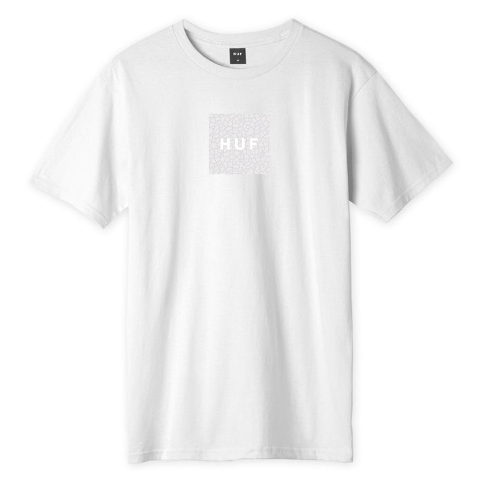 HUF Quake Box Logo T-Shirt Mens Printed Tee White