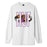 HUF QUAKE USA LONG SLEEVE T-SHIRT MENS LS TEE WHITE
