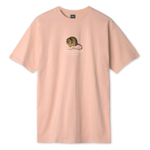 HUF Rat Race T-Shirt Coral Pink