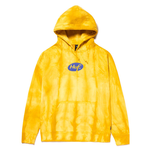 Huf Relax Tiedye Pullover Hoodie Yellow