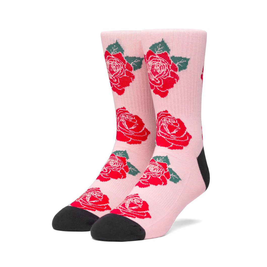 HUF Rose Socks Mens Sock Coral Pink