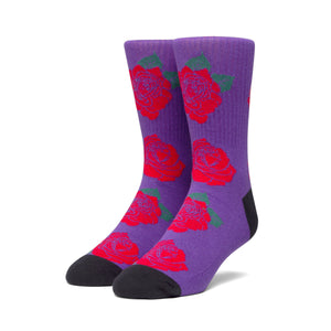 HUF Rose Socks Mens Sock Grape