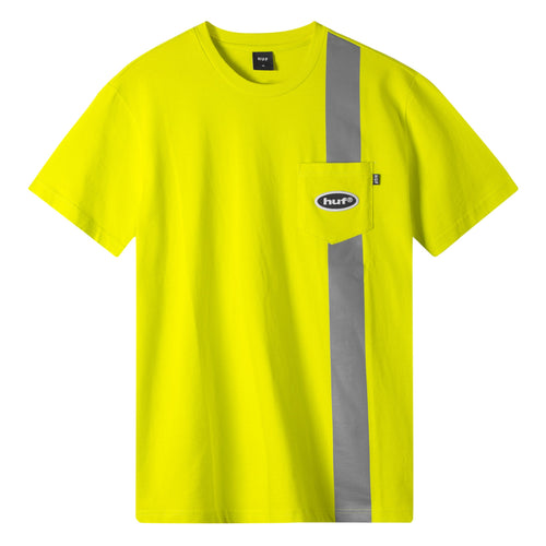 HUF Safety Short Sleeve Pocket T-Shirt Safety Yellow