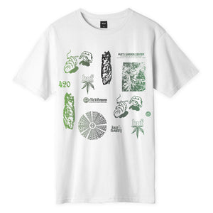 HUF SCATTERED LEAVES S/S T-SHIRT White