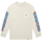 Load image into Gallery viewer, HUF Short Term Long Sleeve Pocket T Shirt Mens Ls Tee Oyster White