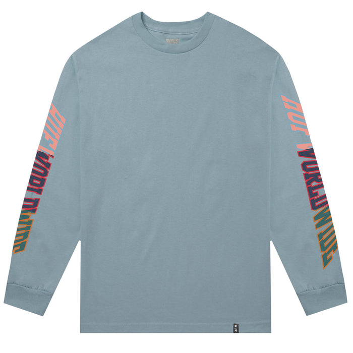 HUF Suspension Classic H Long Sleeve T Shirt Mens Ls Tee Cloud Blue