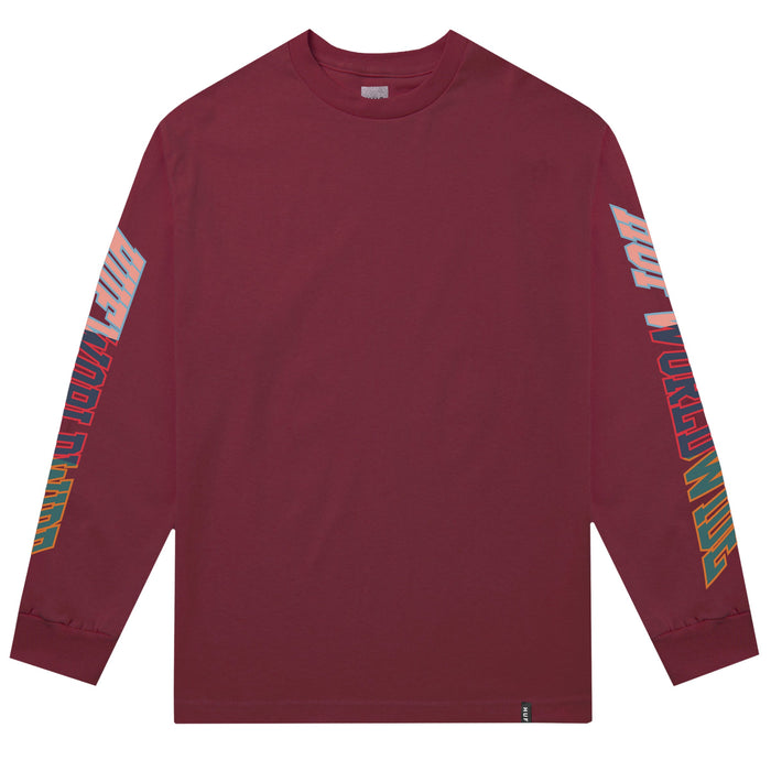 HUF Suspension Classic H Long Sleeve T Shirt Mens Ls Tee Red Pear