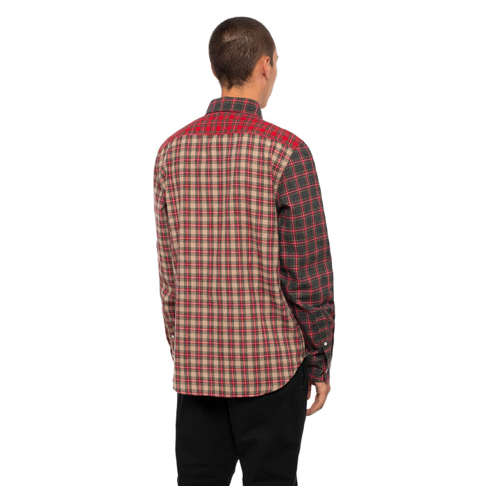 HUF Swire Long Sleeve Woven Shirt Mens Ls Shirt Black
