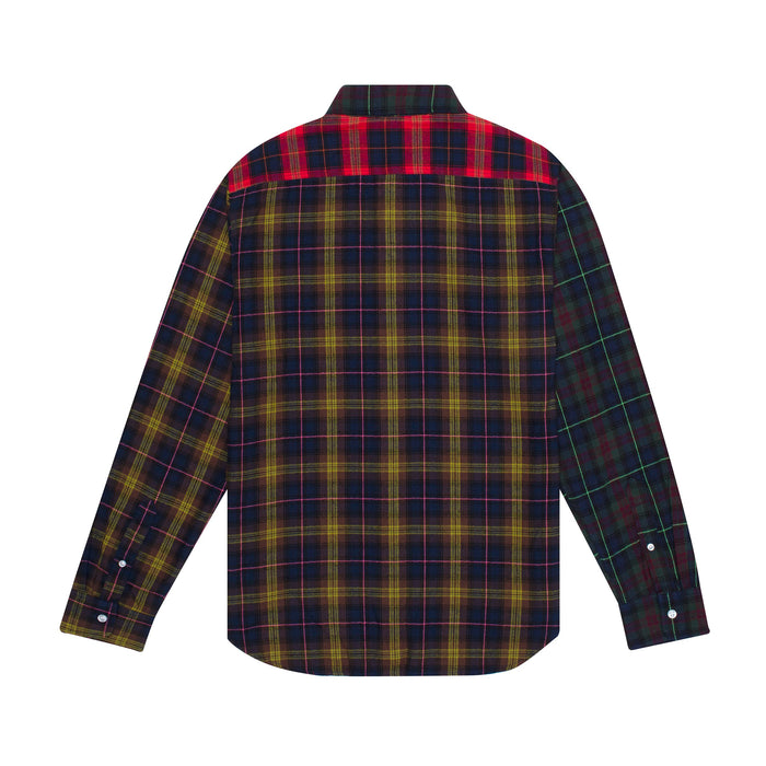 HUF Swire Long Sleeve Woven Shirt Mens Ls Shirt Poppy