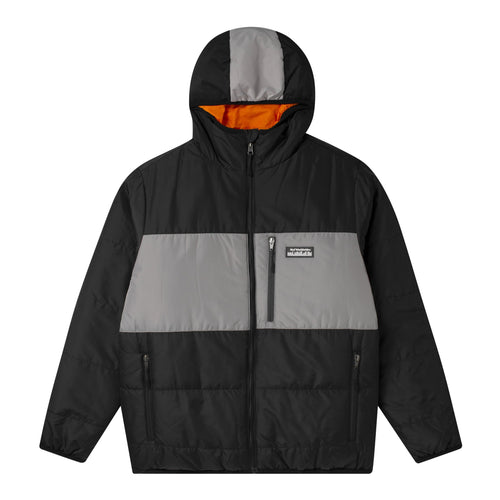 HUF Taos Reversible Puffer Jacket Mens Outerwear Black