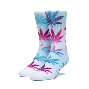 Huf Tiedye Leaves Plantlife Sock White