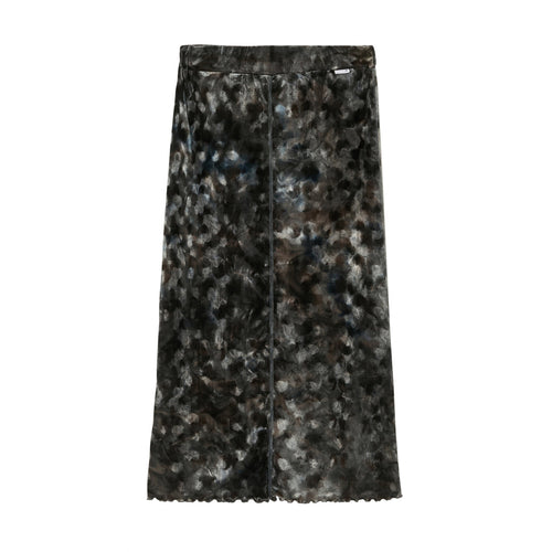 HUF Womens Tie Dye Tube Skirt Black