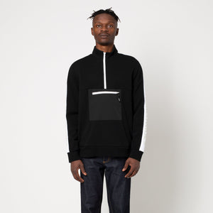 HUF Tribeca 1/4 Zip Fleece Black
