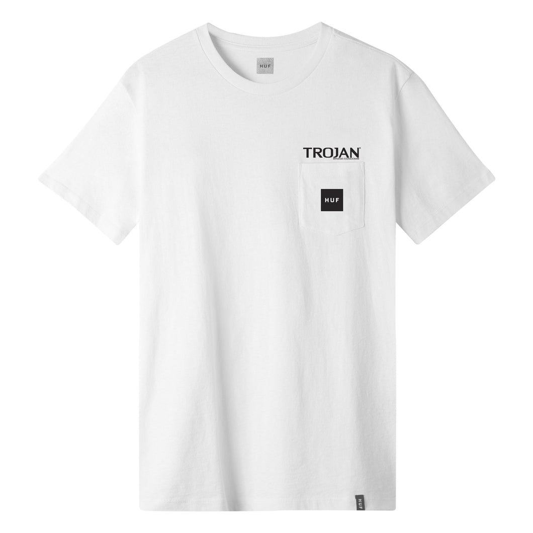 HUF Trojan Hot Sex Pocket T-Shirt Mens White