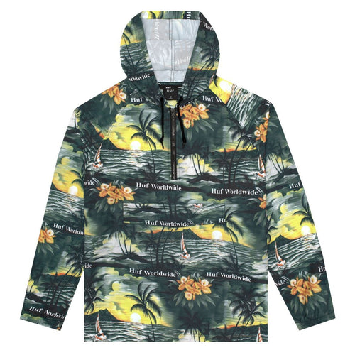 HUF Mens Venice Packable Anorak Jacket Black