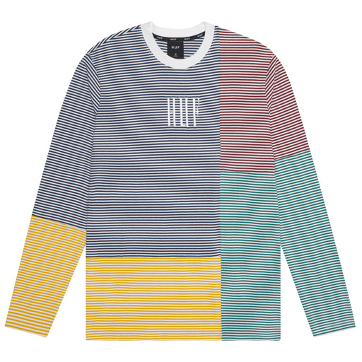 HUF MAZON STRIPE SHORT SLEEVE KNIT TOP MENS SS KNITWEAR CHARCOAL