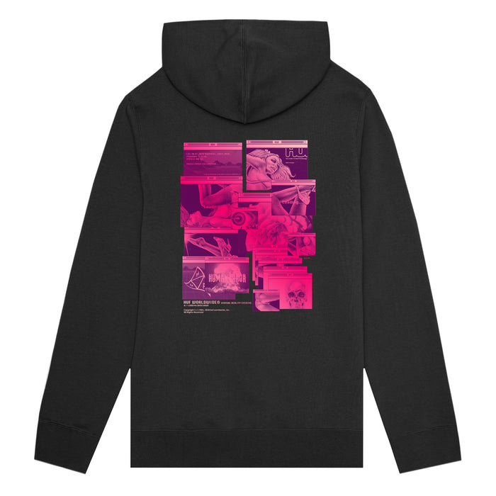 HUF Virtual Reality Pullover Hoodie Mens Hoodie Black