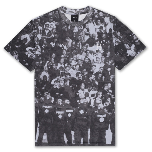 HUF WC 12 Galaxies Riot T-Shirt Black