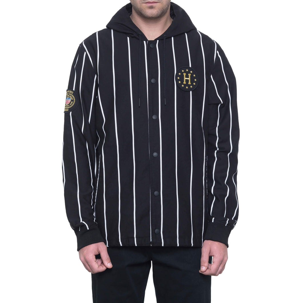 HUF Wc Referee Hooded Coaches Jkt Black