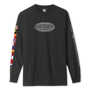 HUF World Tour Long Sleeve T-Shirt Black