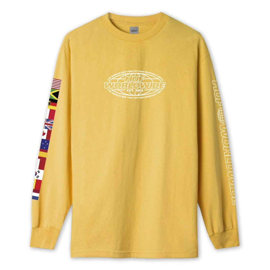 HUF World Tour Long Sleeve T-Shirt Sauterne