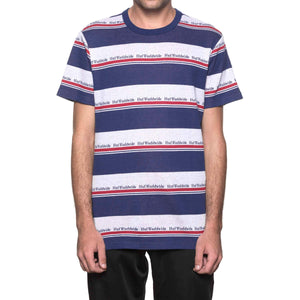 HUF Worldwide Stripe Short Sleeve Knit Twilight Blue