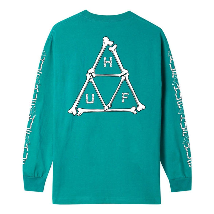HUF Mens Boner Triple Triangle Long Sleeve T-Shirt Biscay Bay