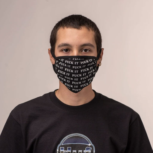HUF Fuck It Face Mask Black